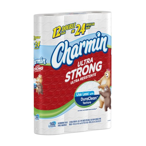 Charmin Ultra Strong Toilet Paper 12 Double Rolls (Pack of 4)