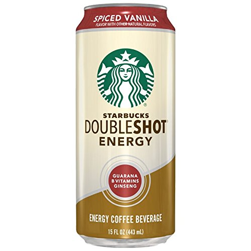 Starbucks Doubleshot Energy Drink, Spiced Vanilla,15 Ounce Cans, 12 Count
