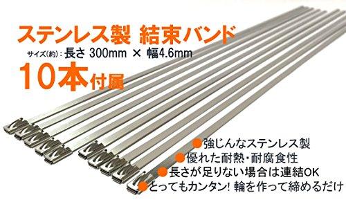 J&M tools(ジェイ&エム) 耐 熱 1200 度 サーモ バンテージ 布 [ 結束 バンド 10 本 と 手袋 付 ] 白 黒 チタン バイク マフラー エキマニ に J&M tools
