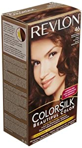 Revlon Colorsilk Haircolor, Medium Golden Chestnut Brown, 1-Count (Pack of 3)