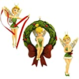 Jim Shore Disney Traditions - Tinkerbell 3 Piece Limited Edition Ornament Set