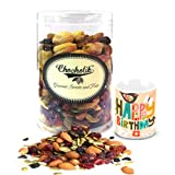 Chocholik Luxury Chocolates - Pleasant Cocktail Party Dry Fruits 500 Gm With Birthday Mug