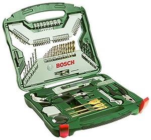 Bosch 103-teiliges X-Line Titanium-Set für Holz, Stein, Metall, 2607019331