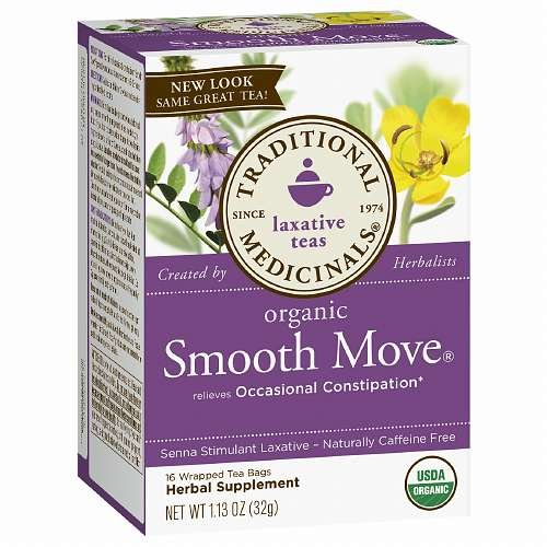 Traditional Medicinals Caffeine Free Organic Herbal Tea, Smooth Move 16 Ea