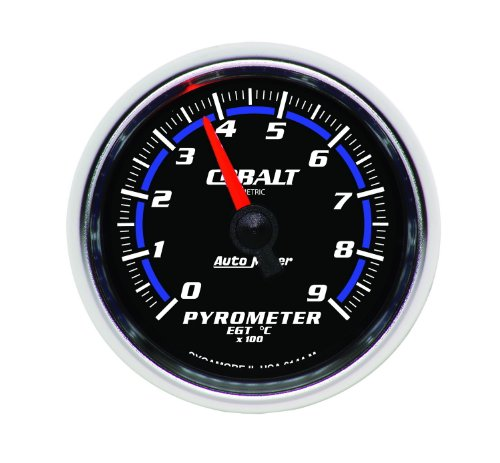"Auto Meter 6144-M Cobalt 2-1/16"" 0-900 Degree C Full Sweep Electric Pyrometer E.G.T. (Exhaust Gas Temperature) Gauge"