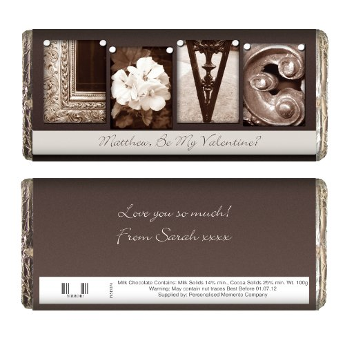 Personalised Affection Art Love Chocolate Bar Great Gift for Wedding Anniversary Girlfriend Boyfriend Wife Husband Fiance Christmas Birthday Valentines Day
