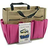 Allary Project Tote 9-1/2 Inch by 8-1/2 Inch by 5 Inch, Pink/Khaki