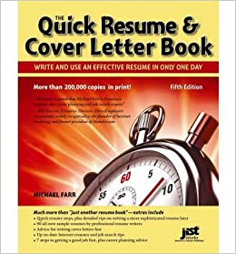 by michael farr jist editors quick resume cover letter book write