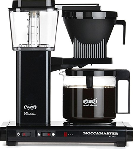 Moccamaster KBG 741 10-Cup Coffee Brewer with Glass Carafe, Black Metallic Kitchen Dining Store