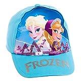 Disney Frozen Girl's Cotton Ana & Elsa Logo Baseball Cap Hat