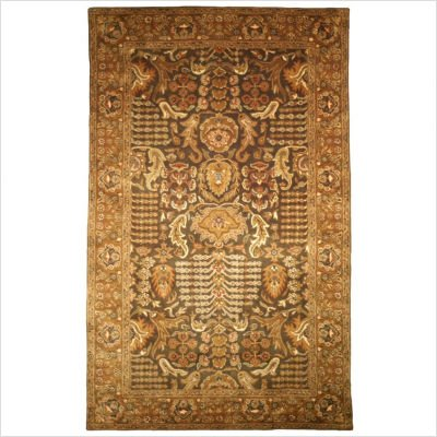 Classic Tree of Life Light Green-Gold Rug Size: 6' x 9'