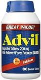 Advil Tablets ( Ibuprofen ), 200 mg, 300 Coated Tablets