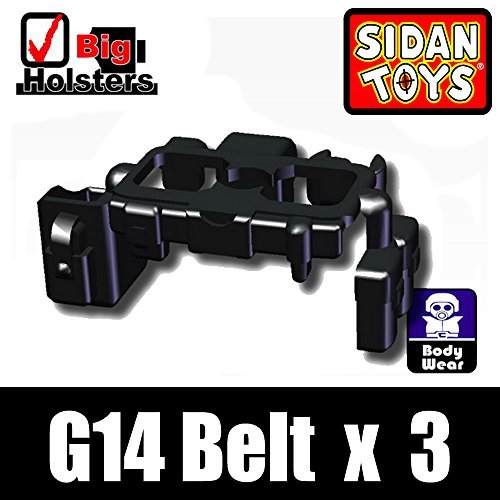 Tactical Belt 3 Pack in Black - Custom Minifigure Pieces - 1