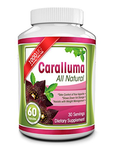 Pure Caralluma Fimbriata Extract - 1000mg Capsules - All Natural Appetite Suppressant & Energy Booster - Helps Reduce Waistline & Burn Fat - Take Charge of Your Health & Enhance Weight Loss Efforts (Caralluma Extract 1000 compare prices)