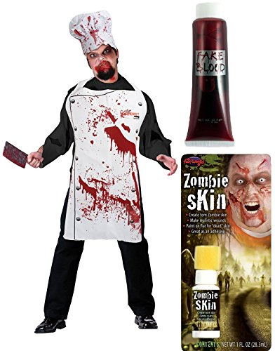halloween-bloody-monster-chef-horror-theme-appron-hat-fake-blood-zombie-fake-skin-liquid-latex-kitch