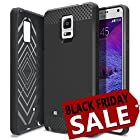 Galaxy Note 4 Case, Obliq [Rugged Slim Fit] Samsung Galaxy Note 4 Case [Flex Pro] [Black] Premium Soft Anti Shock Protection Jelly Case - Verizon, AT&T, Sprint, T-Mobile, International, and Unlocked - Case for Samsung Galaxy Note 4 IV SM-N910S Late 2014 Model