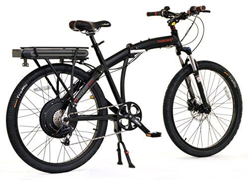 "ProdecoTech Phantom 8 Speed Electric Bicycle 11Ah Samsung Li Ion, Matte Black, 18""/One Size"