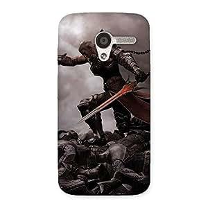 Enticing Warrior Sword Multicolor Back Case Cover for Moto X