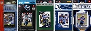NFL Tennessee Titans Five Different Licensed Trading Card Team Sets by C&I Collectables