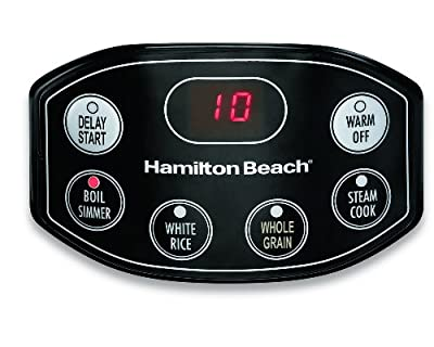 Hamilton Beach Digital Simplicity Rice Cooker and Steamer, 20-Cup (Cooked) Silver (37536) from Hamilton Beach