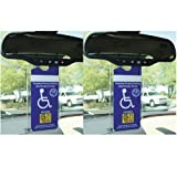CloseoutZone Handicapped Disabled Parking Placard Protective Car Holder (Set of 4)
