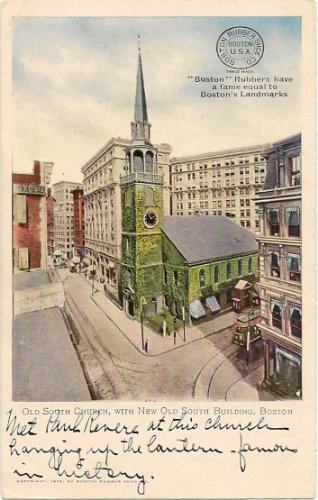 1906 Vintage Postcard Old South Church Boston