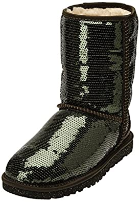 UGG Australia Womens Classic Short Sparkles Boot Forest Night Size 5