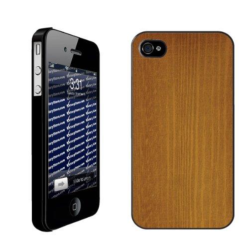 Wood Grain Design Maple Wood   iPhone Hard Case   BLACK
