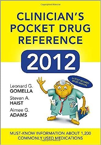 Clinicians Pocket Drug Reference 2012