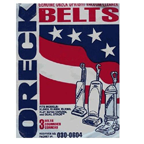 Oreck XL Series Upright Vacuum Cleaner Flat Belts 3 Pk Genuine Part # 75024-01 (Oreck Vacuum Belts 0100604 compare prices)
