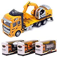 Dibang Transport Truck / Cement Truck / Excavator Three Piece Alloy Car Simulation Model Toy Gift For Boys
