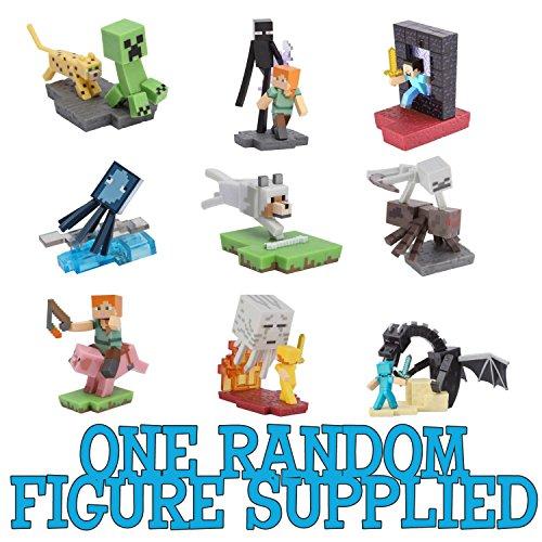Minecraft Craftables Serie 1 Mini Figure Random A Sorpresa Creeper Enderman Steve Zombi Originali