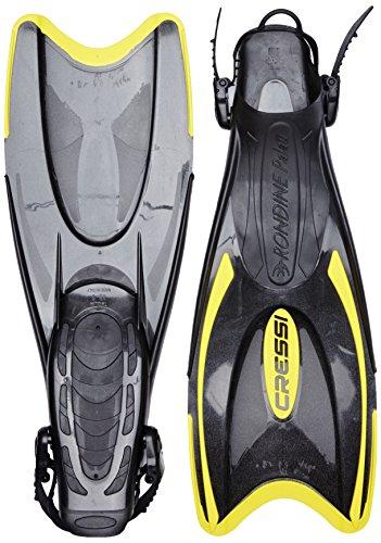 Cressi Palau Pinne Snorkeling, Nero/Giallo, 41/44