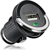 Wicked Chilli Mini Car USB adapter for mobile phone / MP3 player / iPhone / iPod / GPS / Smartphone (12V / 24V, 1200mAh, USB-A)