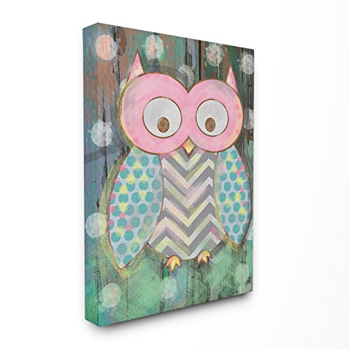 The Kids Room by Stupell Distressed Woodland Owl Canvas Wall Art