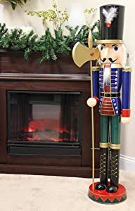4 foot giant wooden soldier christmas for 4 foot nutcracker decoration