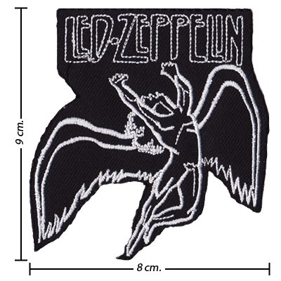 Led Zeppelin Music Band Logo Ii Embroidered Iron On Patches
