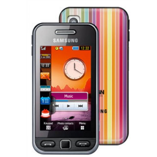 Samsung S5230 Tocco Lite Design Black on Orange Pay As You Go with £10 airtime credit
