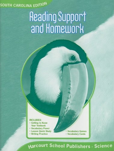 Harcourt Science South Carolina: SC Reading Support/Homework Student Edition Science 08 Grade 3
