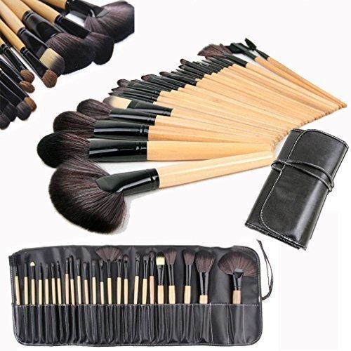 Wholesale Solutions Ltd - 24 Pcs Professionnel Maquillage Ensemble De Brosses Base brosses Kabuki Brosses De Ventilateur étui