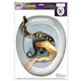 Snake Toilet Topper Peel 'N Place Party Accessory (1 count) (1/Sh)
