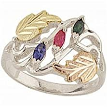 buy Black Hills Gold Silver Mother'S Ring - 3 Stones - Mr928