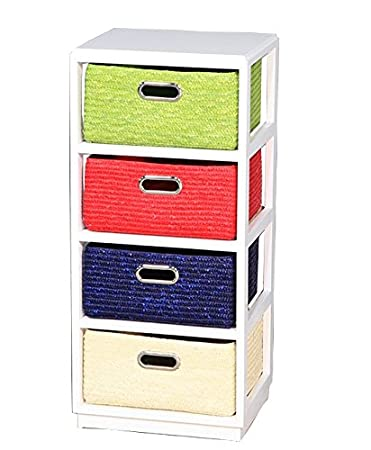 Benzara ETD-EN110682 Vivacious Wooden Cabinet-4 Drawer