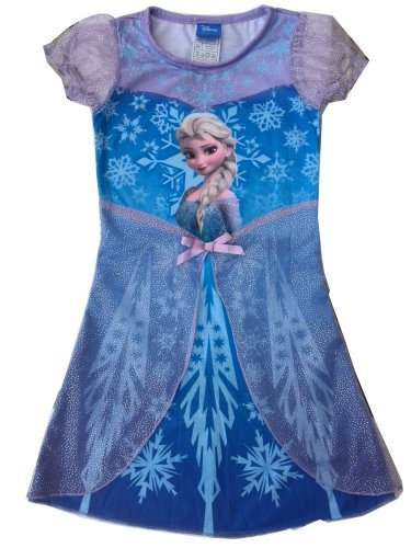 Frozen Disney Princess Elsa Child Girls Fancy Dress Costume Cosplay Skirt L Size