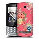 Head Case Blooms In Pink Nostalgic Rose Pattern Back Case For Nokia Asha 303