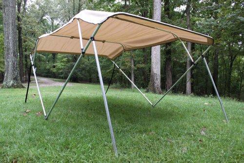 New Beige/tan Pontoon / Deck Boat Vortex 4 Bow