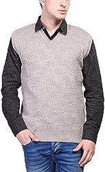 Priknit Men's Blended Sweater (SH-200-38 BEIGE, Beige, 38)