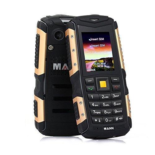 [Versión Nuevo 3G ] HAMSWAN IP 67 Telefóno Moviles libre Sumergible Anti-Golpes, Polvos y Aguas Soporte Cámara Bluetooth con Batería de 2570mAh que Trabaja 720 Horas (Oro)