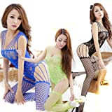 NSSTAR Women Sexy Open Crotch FishNet Stockings Lingerie Tights Pantyhose