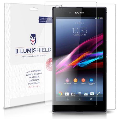 Illumishield - Sony Xperia Z Ultra Screen Protector & Full Body Skin Front+Back Japanese Ultra Clear Hd Film With Anti-Bubble And Anti-Fingerprint - High Quality (Invisible) Lcd Shield - Lifetime Replacement Warranty - [3-Pack] Oem / Retail Packaging